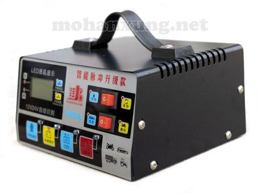 Máy sạc ắc quy 12V/24V thông minh tự động ngắt, khử sunfat bảo vệ phục hồi ắc quy